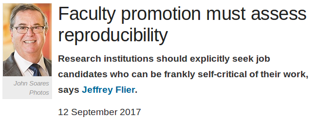 Faculty promotion must assess reproducibility